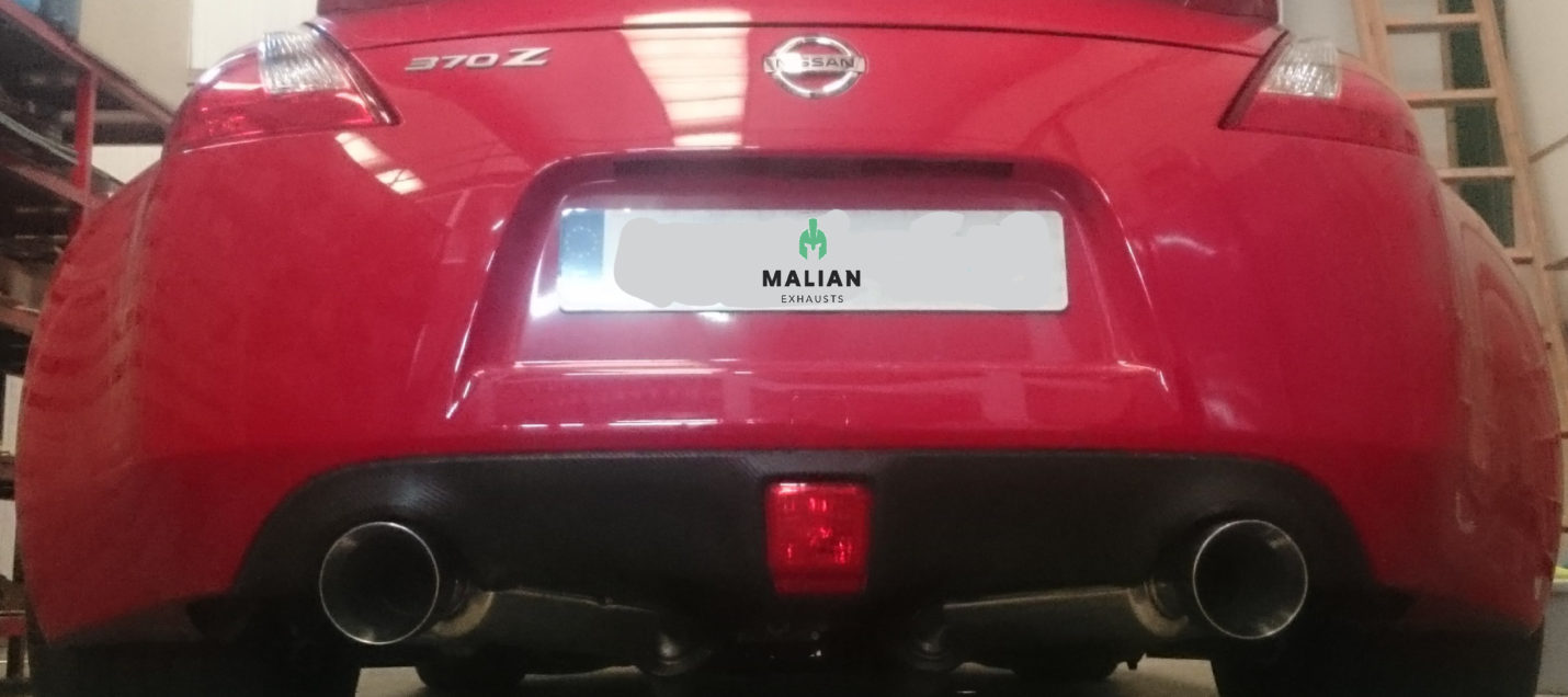 """Performance Exhaust Backboxes for Nissan 370Z 3.7 V6, Dual 4.5"""" Tailpipes"""