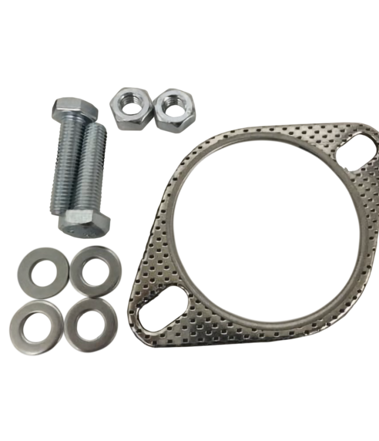 3 EXHAUST FLANGE GASKET AND FITTING KIT M10 NUTS /& BOLTS
